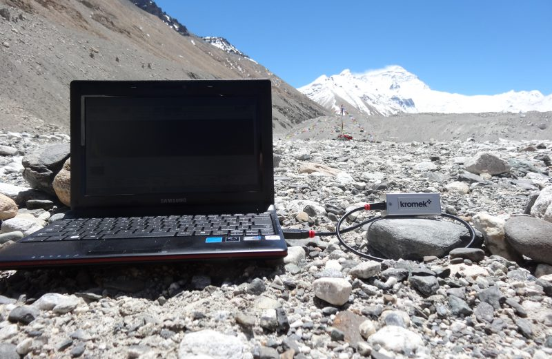 Gamma ray detector spectrometer at Everest Basecamp