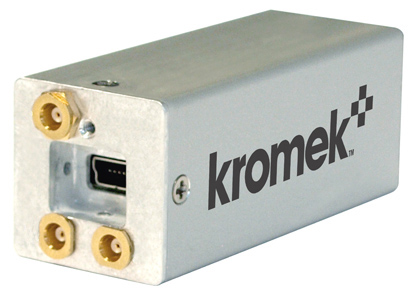GR1-A gamma spectrometer showing USB and three MCX connectors