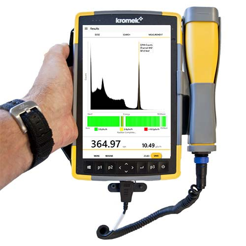 Raymon10 handheld gamma spectrometer with Cs137