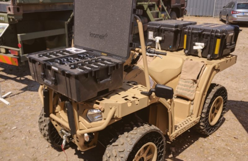 D3S rugged event case fitted to an ATV ready for rapid deployment