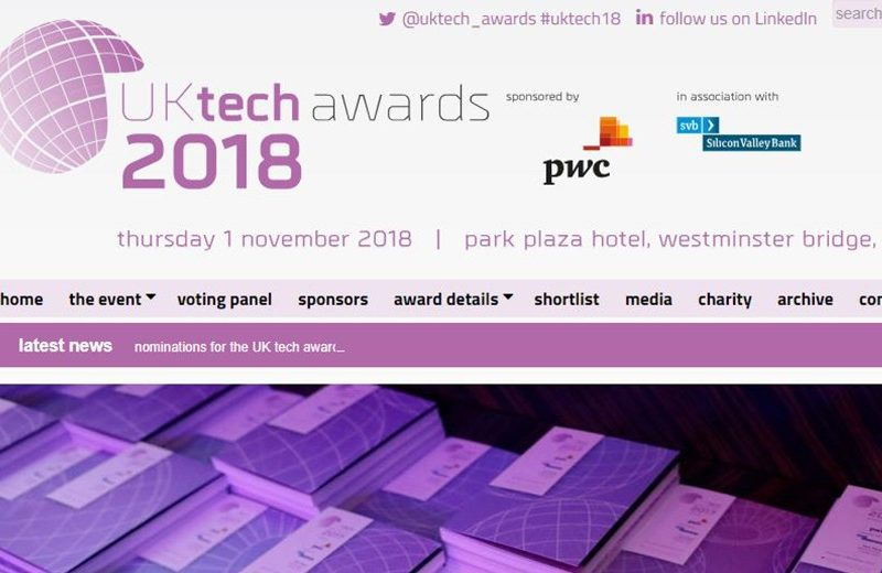 UK Tech Awards Kromek shortlisted