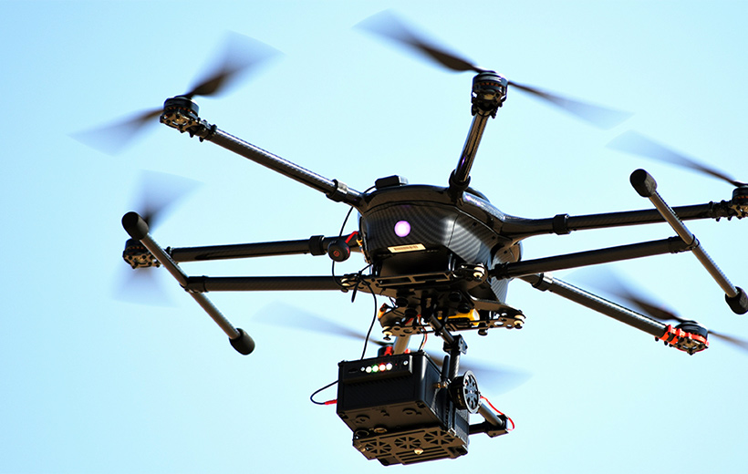radiation detector on a drone
