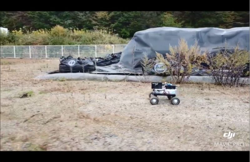 Wheeled radiation detection rover