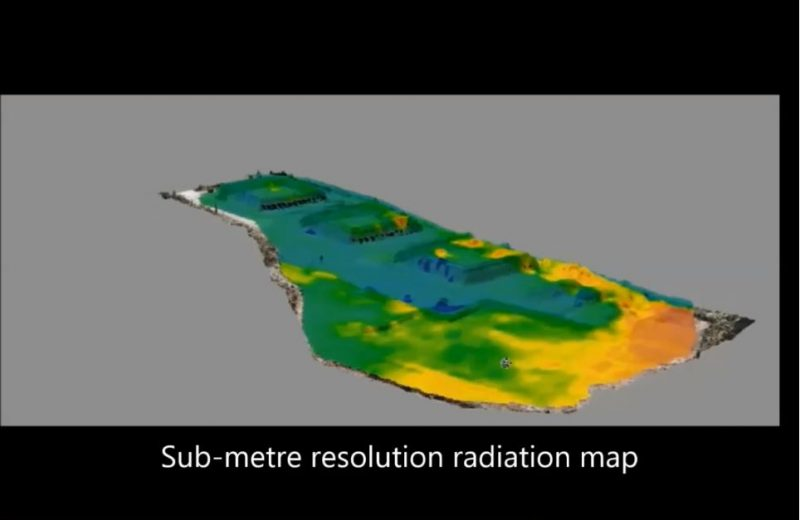 Sub metre resolution radiation map
