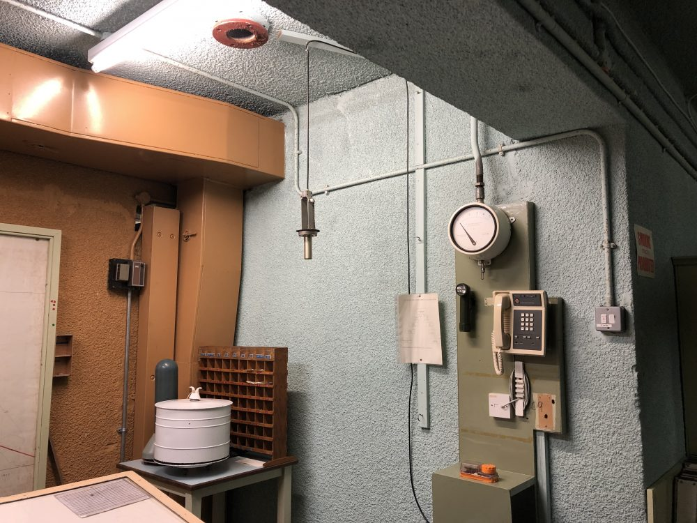 York Nuclear Bunker Geiger counter radiation detector