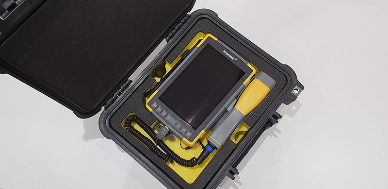 RayMon10 gamma spectrometer in its protective Pelicase