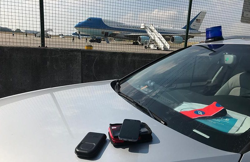 Air Force One and D3S gamma neutron detector at the NATO Summit