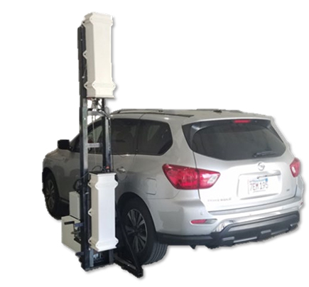 Vehicle mounted radiation detector converted to stand alone detector