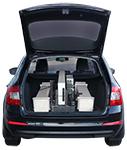 Vehicle mounted radiation detector open hatchback