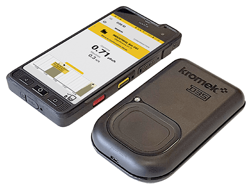 D3S ID gamma neutron radiation detector and rugged phone