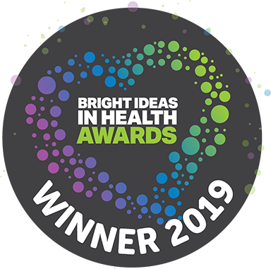 Winner logo Bright Ideas in Health Awards 2019