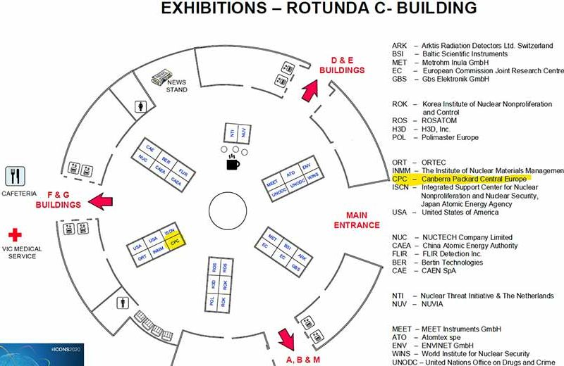 Floor plan of ICONS 2020